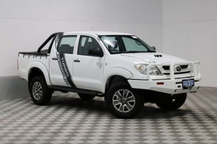 2010 Toyota Hilux KUN26R 09 Upgrade SR (4x4) White 5 Speed Manual