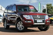 2017 Mitsubishi Pajero NX MY17 GLS Red 5 Speed Sports Automatic Wagon Cannington Canning Area Preview