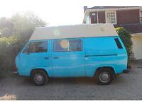 VW T25 Campervan, High Top, Water Cooled, 1990, Blue, Van - Great Storage!