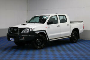 2014 Toyota Hilux KUN26R MY14 SR (4x4) White 5 Speed Automatic