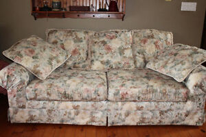 Couch and two wing chairs