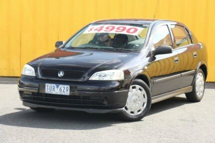 2004 Holden Astra TS MY04.5 Classic Black 5 Speed Manual Hatchback Heatherton Kingston Area Preview