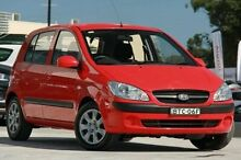 2009 Hyundai Getz TB MY09 S Red 4 Speed Automatic Hatchback Pennant Hills Hornsby Area Preview