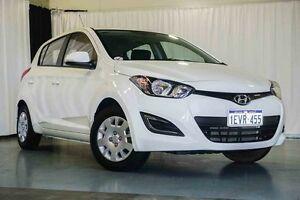 2015 Hyundai i20 PB MY16 Active White 6 Speed Manual Hatchback Wangara Wanneroo Area Preview