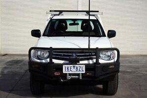 2011 Mitsubishi Triton MN MY11 GLX Club Cab White 5 Speed Manual Cab Chassis Seaford Frankston Area Preview