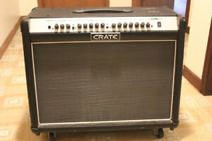 FS/T Crate 120W 2x12 Amp Exc Condition w/FX+Footswitch+Wheels
