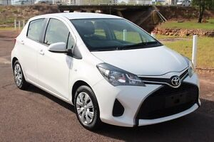 2015 Toyota Yaris NCP130R Ascent Glacier White 4 Speed Automatic Hatchback The Gardens Darwin City Preview
