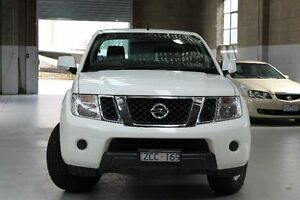 2012 Nissan Navara D40 S6 ST White Manual Utility Knoxfield Knox Area Preview