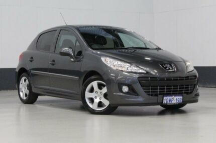 2012 Peugeot 207 MY10 XT Grey 4 Speed Automatic Hatchback Bentley Canning Area Preview
