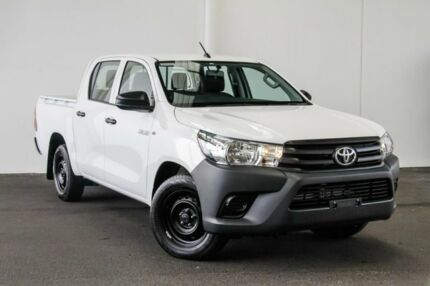2017 Toyota Hilux TGN121R Workmate Double Cab 4x2 Glacier White 6 Speed Sports Automatic Utility Myaree Melville Area Preview