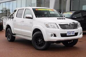 2012 Toyota Hilux KUN26R MY12 SR5 Double Cab White 4 Speed Automatic Utility Wangara Wanneroo Area Preview