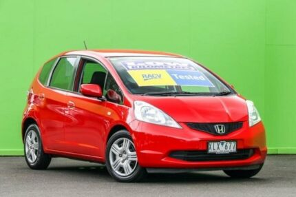 2010 Honda Jazz GE MY10 GLi Red 5 Speed Automatic Hatchback Ringwood East Maroondah Area Preview