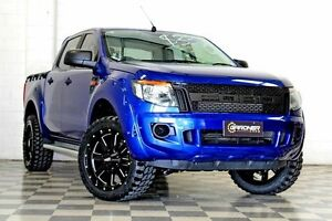 2015 Ford Ranger PX XL 2.2 HI-Rider (4x2) Blue 6 Speed Automatic Crew Cab P/Up Burleigh Heads Gold Coast South Preview