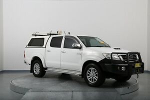 2012 Toyota Hilux KUN26R MY12 SR5 Double Cab White 4 Speed Automatic Utility Old Guildford Fairfield Area Preview