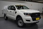 2015 Ford Ranger PX MkII XL Double Cab White 6 Speed Manual Cab Chassis Brooklyn Brimbank Area Preview