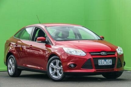 2012 Ford Focus LW MKII Trend PwrShift Red 6 Speed Sports Automatic Dual Clutch Sedan Ringwood East Maroondah Area Preview