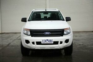 2015 Ford Ranger PX XL Double Cab White 6 Speed Manual Cab Chassis Seaford Frankston Area Preview