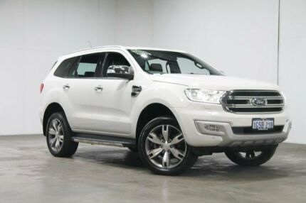 2016 Ford Everest UA Titanium 4WD White 6 Speed Sports Automatic Wagon Welshpool Canning Area Preview