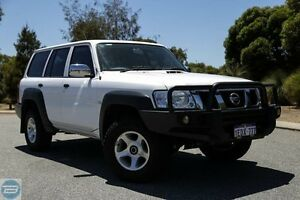 2012 Nissan Patrol Y61 GU 8 DX White 5 Speed Manual Wagon Hillman Rockingham Area Preview
