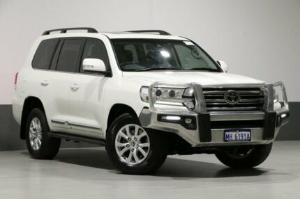 2017 Toyota Landcruiser VDJ200R MY16 Sahara (4x4) White 6 Speed Automatic Wagon Bentley Canning Area Preview