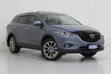 2015 Mazda CX-9 MY14 Luxury (FWD) Blue 6 Speed Auto Activematic Wagon Bentley Canning Area Preview