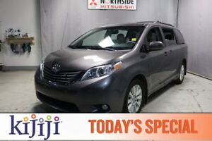 2014 Toyota Sienna AWD XLE Leather,  Heated Seats,  Sunroof,  Bl