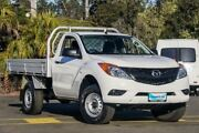 2012 Mazda BT-50 UP0YD1 XT White Sports Automatic Cab Chassis Ringwood East Maroondah Area Preview