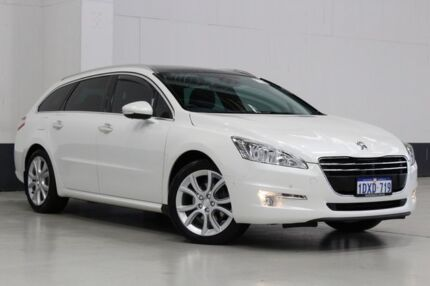 2012 Peugeot 508 Allure HDI Touring White 6 Speed Automatic Wagon Bentley Canning Area Preview