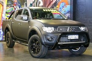 2010 Mitsubishi Triton MN MY10 GLX-R Double Cab Matte Black 5 Speed Sports Automatic Utility Northbridge Perth City Area Preview