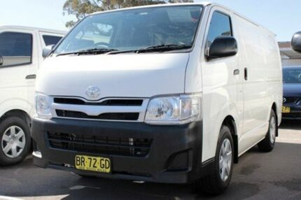 2012 Toyota Hiace TRH201R MY12 Upgrade LWB White 4 Speed Automatic Van Cardiff Lake Macquarie Area Preview