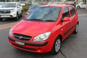2008 Hyundai Getz TB MY09 SX Red 4 Speed Automatic Hatchback South Maitland Maitland Area Preview