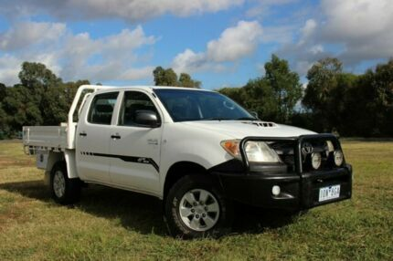 2007 Toyota Hilux KUN26R MY08 SR White 5 Speed Manual Cab Chassis Officer Cardinia Area Preview