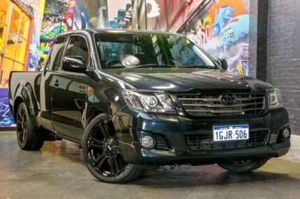 2013 Toyota Hilux GGN15R MY12 SR Xtra Cab Black 5 Speed Automatic Utility