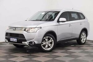 2015 Mitsubishi Outlander ZJ MY14.5 ES 2WD Silver 6 Speed Constant Variable Wagon Edgewater Joondalup Area Preview