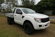2012 Ford Ranger PX XL 4x2 Hi-Rider White 6 Speed Manual Cab Chassis Ormeau Gold Coast North Preview