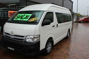 2012 Toyota Hiace KDH223R MY11 Upgrade Commuter White 4 Speed Automatic Bus South Maitland Maitland Area Preview