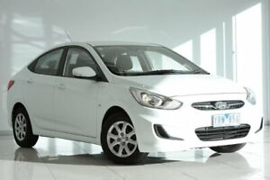 2011 Hyundai Accent RB Active White 4 Speed Sports Automatic Sedan Strathmore Heights Moonee Valley Preview
