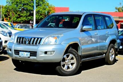 2003 Toyota Landcruiser Prado GRJ120R GXL Silver 4 Speed Automatic Wagon Midland Swan Area Preview