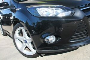2012 Ford Focus LW MKII Titanium PwrShift Black 6 Speed Sports Automatic Dual Clutch Hatchback Dee Why Manly Area Preview