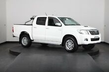 2013 Toyota Hilux KUN26R MY14 SR5 (4x4) White 5 Speed Automatic Dual Cab Pick-up Greenacre Bankstown Area Preview