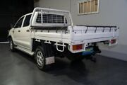 2011 Toyota Hilux KUN26R MY12 SR (4x4) White 5 Speed Manual Dual Cab Chassis Woodridge Logan Area Preview