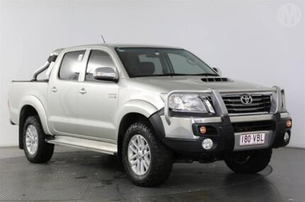 2014 Toyota Hilux KUN26R MY14 SR5 (4x4) Sterling Silver 5 Speed Automatic Dual Cab Pick-up Eagle Farm Brisbane North East Preview