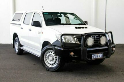 2015 Toyota Hilux KUN26R MY14 SR Double Cab Glacier White 5 Speed Automatic Utility Rockingham Rockingham Area Preview
