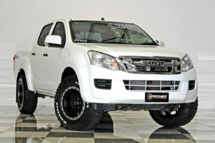 2014 Isuzu D-MAX TF MY15 SX (4x4) White 5 Speed Automatic Crew Cab Utility Burleigh Heads Gold Coast South Preview