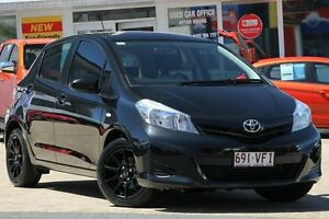 2013 Toyota Yaris NCP130R YR Black/Grey 4 Speed Automatic Hatchback Woolloongabba Brisbane South West Preview