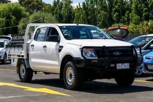 2013 Ford Ranger PX XL Double Cab White 6 Speed Manual Utility Ringwood East Maroondah Area Preview