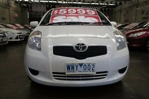 2008 Toyota Yaris NCP91R YRS 5 Speed Manual Hatchback Mordialloc Kingston Area Preview