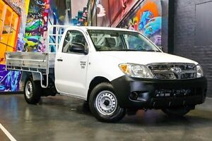 2008 Toyota Hilux TGN16R MY08 Workmate White 5 Speed Manual Cab Chassis Northbridge Perth City Area Preview