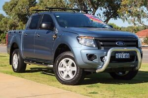 2012 Ford Ranger PX XL Double Cab Blue 6 Speed Sports Automatic Utility Wangara Wanneroo Area Preview