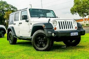 2013 Jeep Wrangler JK MY2013 Unlimited Sport White 6 Speed Manual Softtop Wangara Wanneroo Area Preview